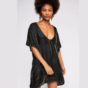 FREE PEOPLE CP SHADES VELVET TEE SHIRT TUNIC DRESS